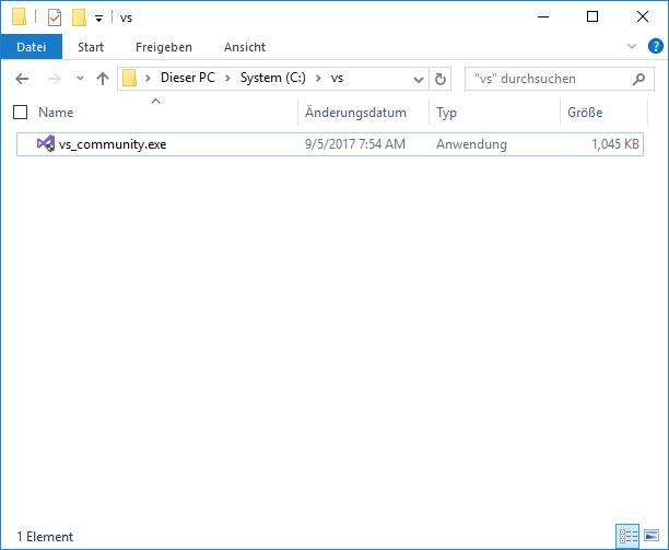Offline-Installer für Visual Studio 2017 › tsjdev apps